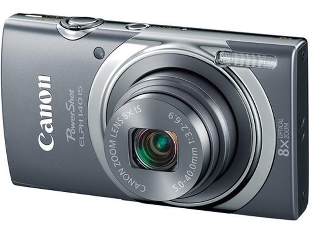 Canon PowerShot ELPH 140 IS Gray 16.0 MP Digital Camera
