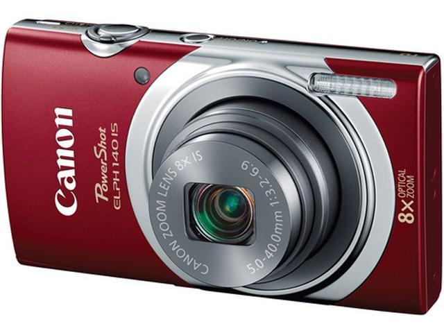 Canon PowerShot ELPH 140 IS Red 16.0 MP Digital Camera