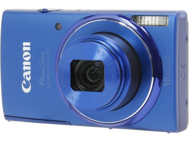 Canon PowerShot ELPH 150 IS Blue 20.0 MP 10X Optical Zoom 24mm Wide Angle Digital Camera
