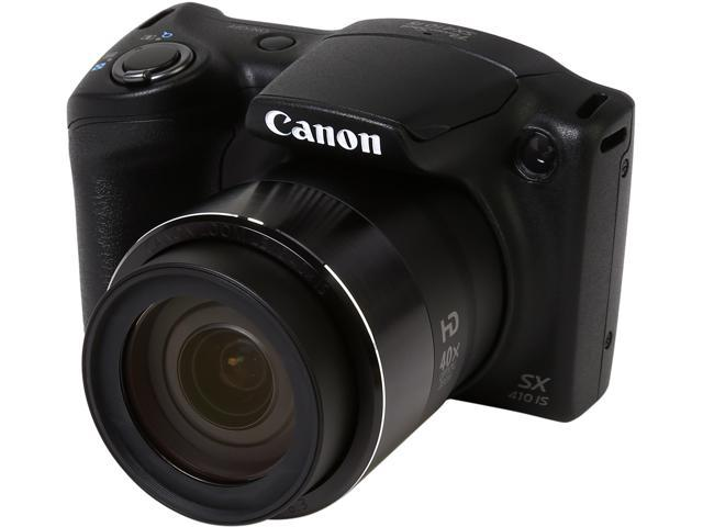 Canon PowerShot SX410 IS 0107C001 Black 20.0 MP 40X Optical Zoom 24mm Wide Angle Digital Camera