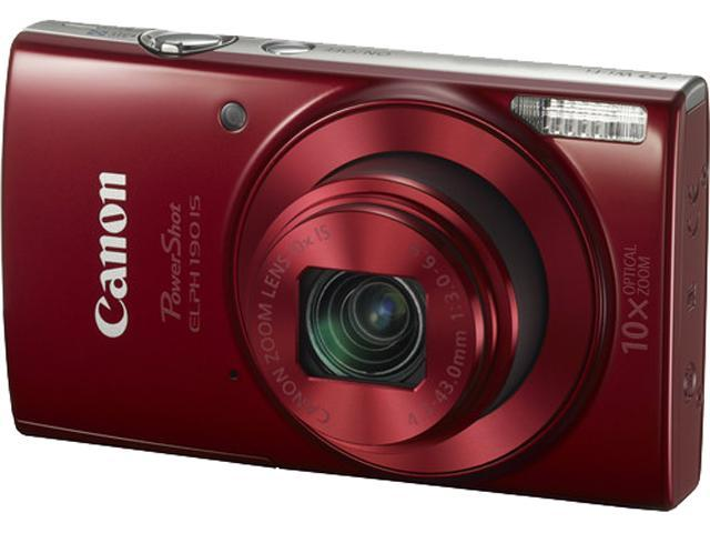Canon PowerShot ELPH 190 IS Digital Camera - Red