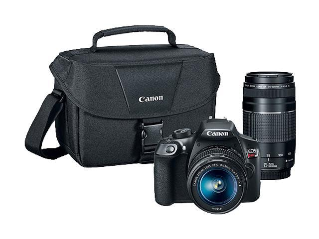Canon EOS Rebel T6 DSLR Camera with 18 - 55 mm and 75 - 300 mm Lenses Kit