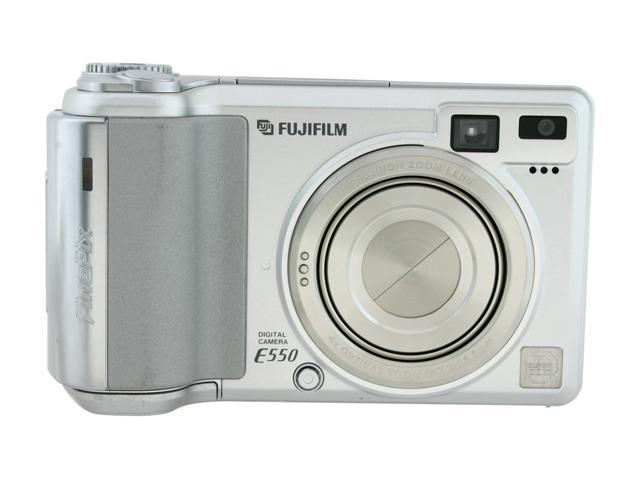 FUJIFILM FinePix E550 Silver 6.3 MP 4X Optical Zoom Digital Camera
