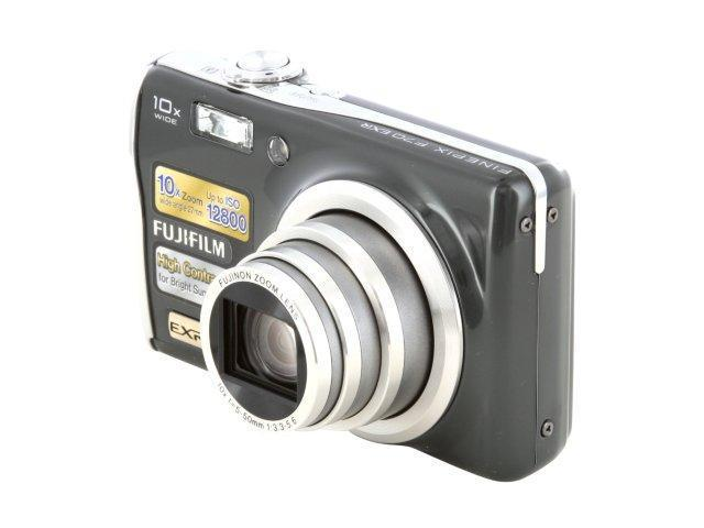 FUJIFILM FINEPIX F70 EXR Gunmetal 10.0 MP 10X Optical Zoom 27mm Wide Angle Digital Camera