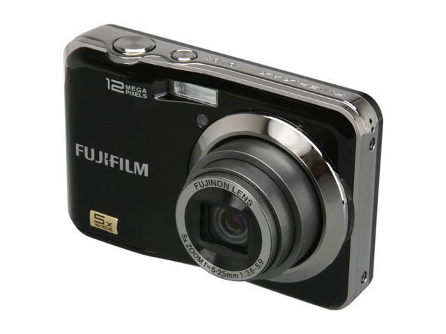 FUJIFILM FinePix AX200 Black 12.2 MP 5X Optical Zoom Digital Camera