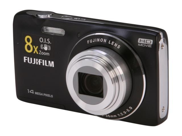 FUJIFILM JZ100 Black 14.0 MP 8X Optical Zoom Wide Angle Digital Camera