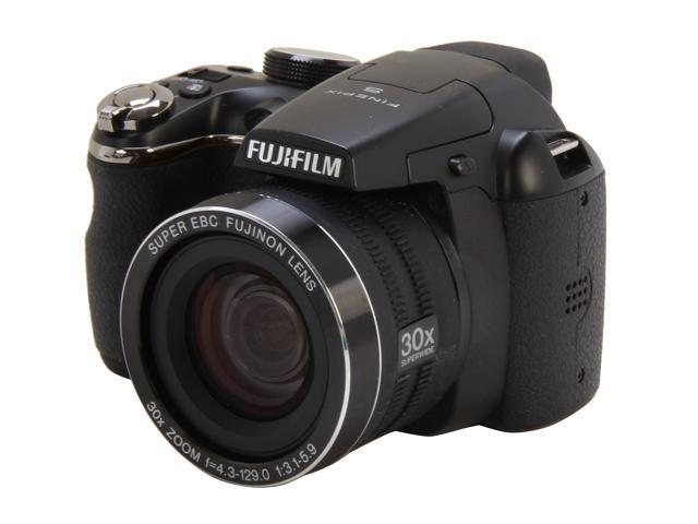 FUJIFILM FinePix S4500 Black 14 MP 30X Optical Zoom 24mm Wide Angle Digital Camera HDTV Output