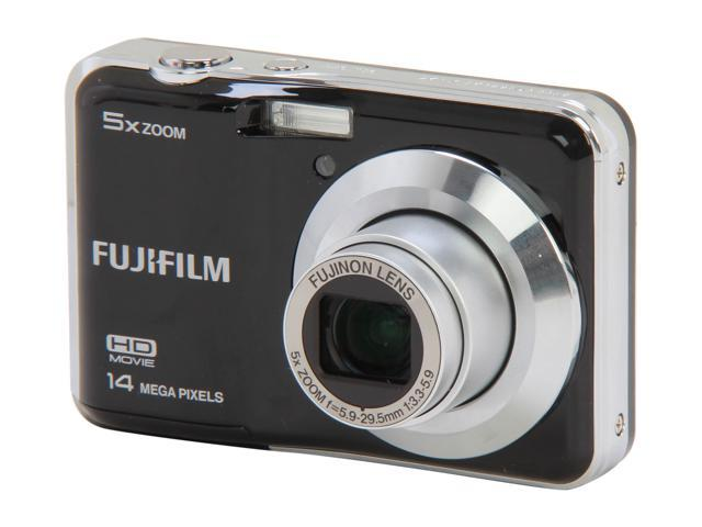 FUJIFILM FinePix AX500 Black 14 MP 5X Optical Zoom Digital Camera