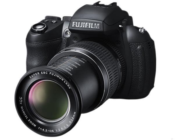 FUJIFILM HS30EXR Black 16.0 MP 30X Optical Zoom 24mm Wide Angle Digital Camera