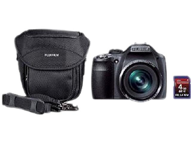 FUJIFILM SL260BNDL Black 14MP 26X Optical Zoom Digital Camera Kit: Includes Fujifilm 4GB Class 6 SD Memory Card & Case