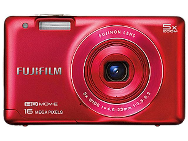 FUJIFILM FinePix JX680 16292241 Red 16 MP 26mm Wide Angle Digital Camera