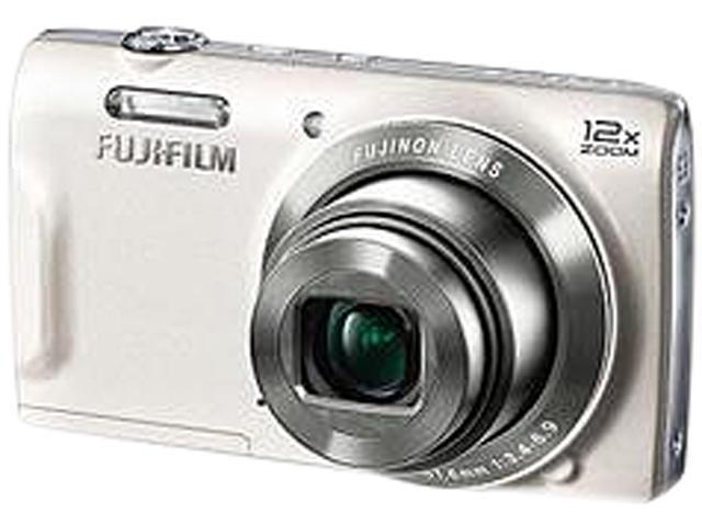 FUJIFILM FinePix T550 White 16 MP 12X Optical Zoom 24mm Wide Angle Digital Camera