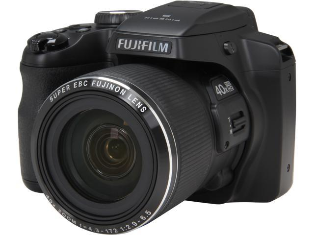 FUJIFILM FinePix S8200 Black 16.2 MP 40X Optical Zoom 24mm Wide Angle Digital Camera HDTV Output