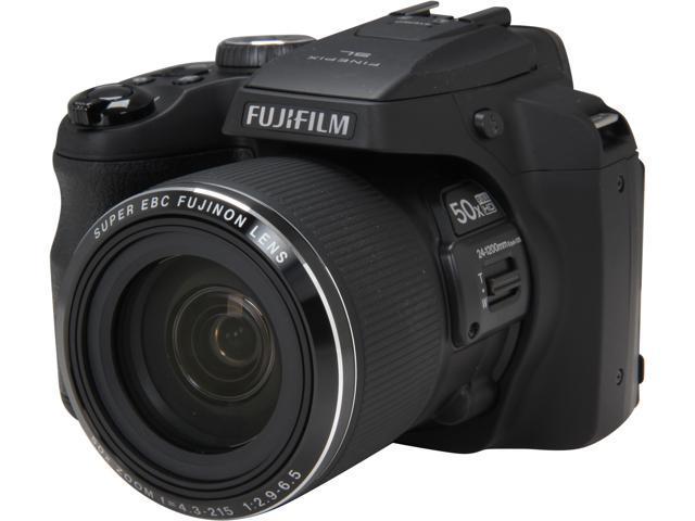 FUJIFILM FinePix SL1000 Black 16.2 MP 50X Optical Zoom 24mm Wide Angle Digital Camera HDTV Output