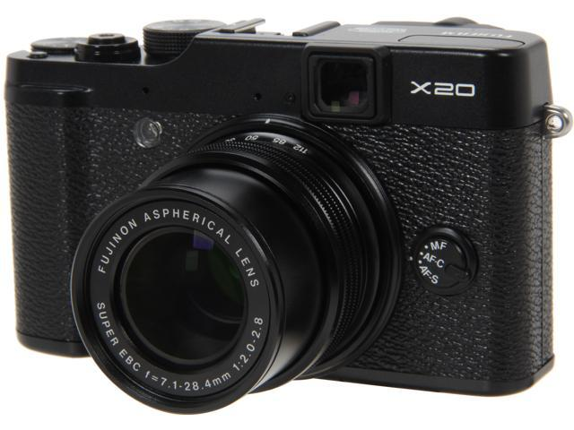 FUJIFILM X20 Black 28mm Wide Angle Digital Camera HDTV Output