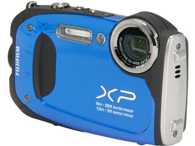 "FUJIFILM FinePix XP60 Blue 16.4 MP 2.7"" 230K Action Camera"