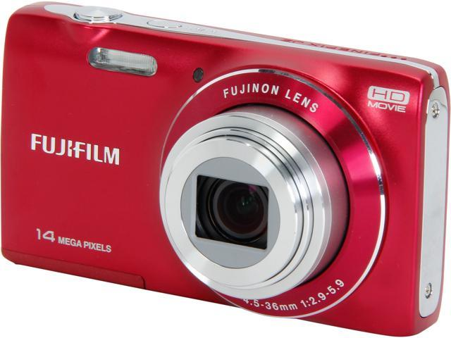 Fuji FinePix 14MP 8x Optical ZoomDigital Camera, JZ100 Red