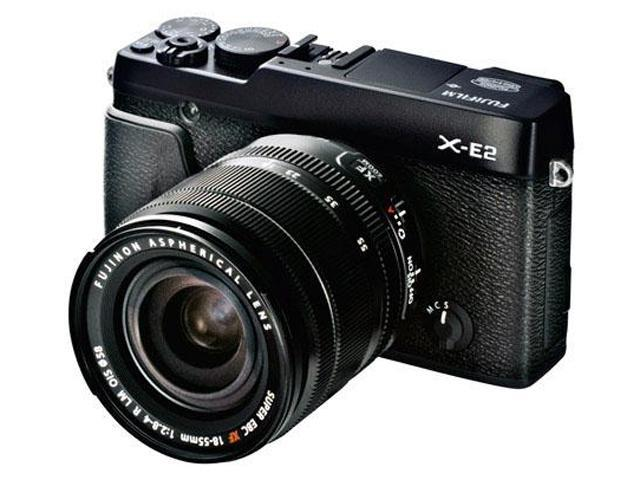 FUJIFILM X-E2 16405018 Black Compact Mirrorless System Camera with 18-55mm Lens