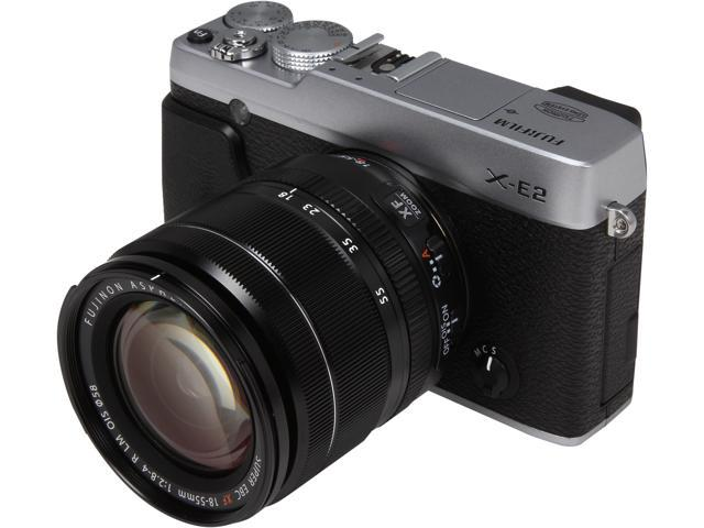 FUJIFILM X-E2 16404935 Silver Compact Mirrorless System Camera with 18-55mm Lens