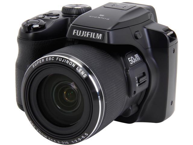 FUJIFILM FINEPIX S9200 Black 16.2 MP 50X Optical Zoom 24mm Wide Angle Digital Camera HDTV Output