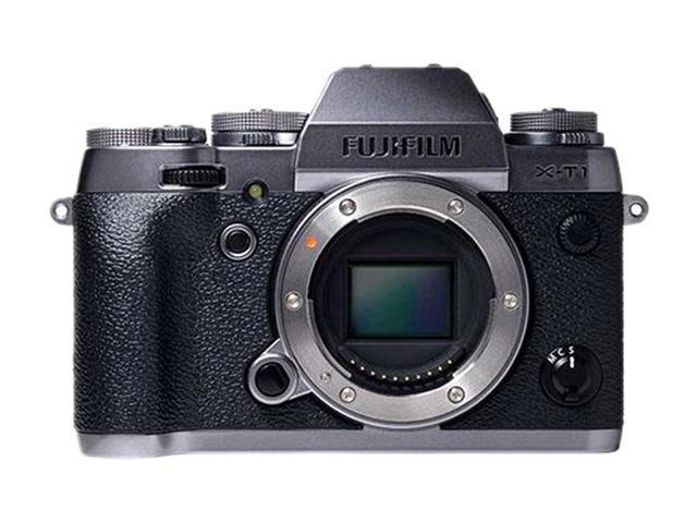 FUJIFILM X-T1 16442755 Graphite Silver 16.3 MP 3.0 1040K LCD Mirrorless Digital Camera - Body