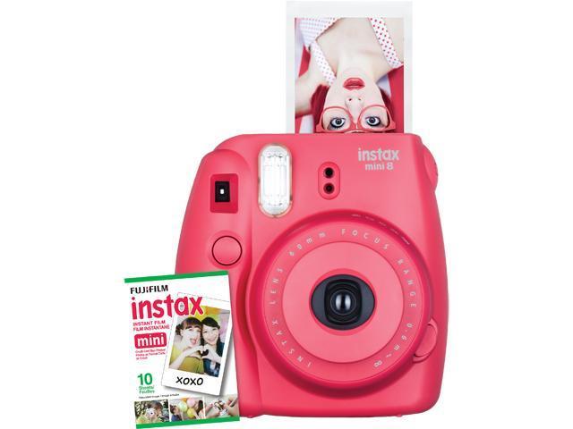 Instax Mini 8 Instant Camera with 10 exposure Film - Wild Raspberry