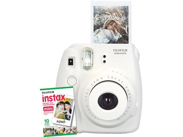Instax Mini 8 Instant Camera with 10 exposure Film - Dreamy White