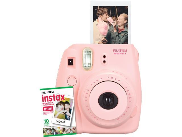 Instax Mini 8 Instant Camera with 10 exposure Film - Candy Pink