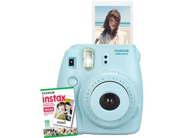 Instax Mini 8 Instant Camera with 10 exposure Film - Beach Blue