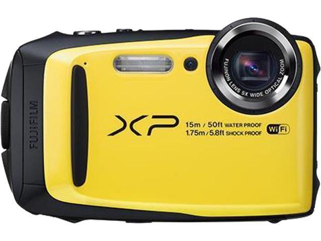 FUJIFILM XP90 16.4 MP Waterproof Digital Camera, Yellow