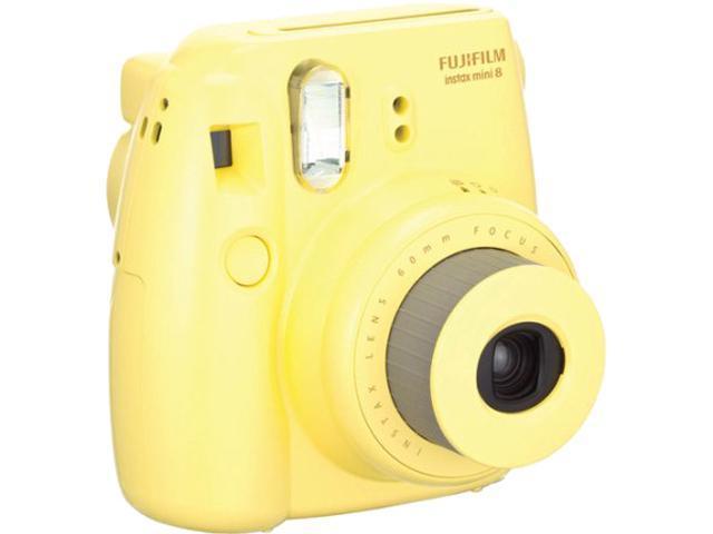 FUJIFILM Instax Mini 8 16273441 BNDL Yellow Film Camera Plus TWIN PK