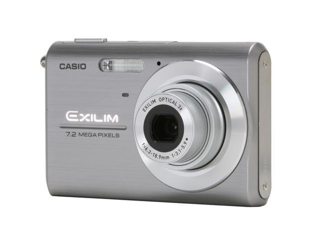 CASIO EX-Z75SR Silver 7.2 MP 3X Optical Zoom Digital Camera
