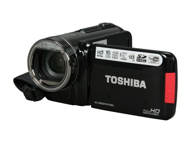 "TOSHIBA Camileo X100 Black 10MP CMOS 3.0"" touch LCD 10X Optical Zoom Full HD HDD/Flash Memory Camcorder"