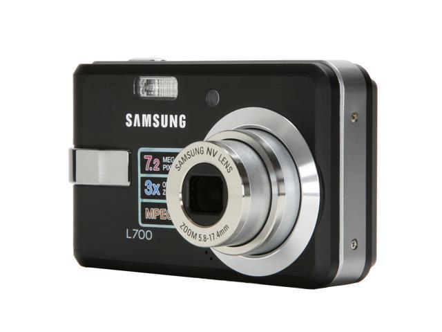 SAMSUNG L700B Black 7.2 MP 3X Optical Zoom Digital Camera