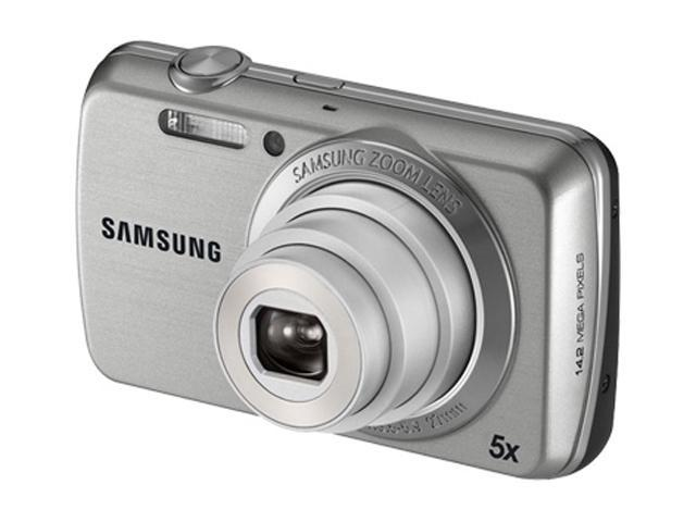 SAMSUNG PL 20 Silver 14.2 MP 5X Optical Zoom 27mm Wide Angle Digital Camera