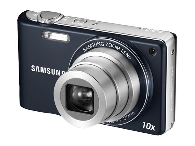SAMSUNG PL 210 Blue 14.2 MP 27mm Wide Angle Digital Camera