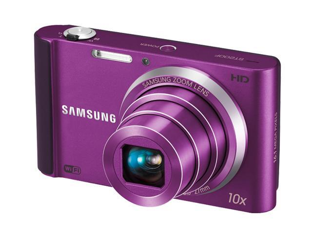 SAMSUNG ST200F Plum 16.1 MP 10X Optical Zoom 27mm Wide Angle Wireless-enabled Smart Digital Camera