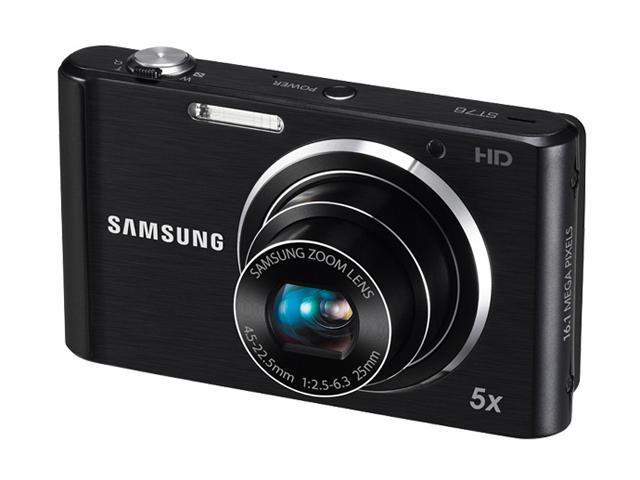 SAMSUNG ST76 Black 16.1 MP 25mm Wide Angle Digital Camera