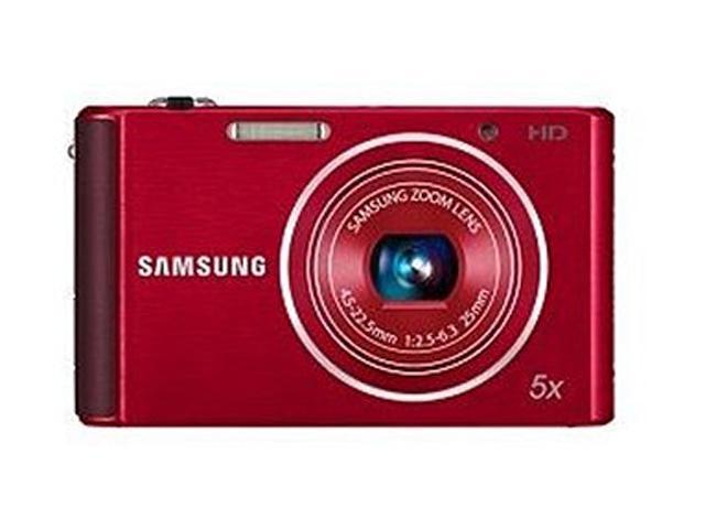 SAMSUNG ST76 Red 16.1 MP 25mm Wide Angle Digital Camera