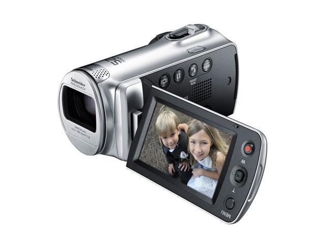 "SAMSUNG F80SN (HMX-F80SN/XAA) Silver 1/3.2"" CMOS 2.7"" 230K LCD 52X Optical Zoom Full HD Camcorder"
