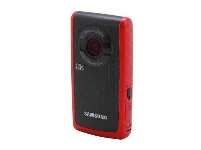 SAMSUNG W200 (HMX-W200RN/XAA) 1080P Digital Pocket Camcorder, Red