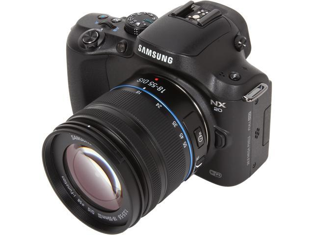 SAMSUNG NX20 EV-NX20ZZBSBUS Black Compact System Camera with 18-55mm Lens