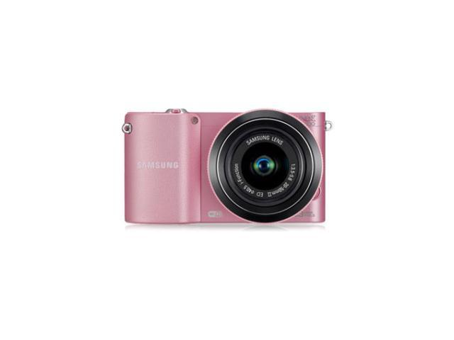 Samsung NX1000 20.3 Megapixel Mirrorless Camera (Body with Lens Kit) - 20 mm - 50 mm - Pink