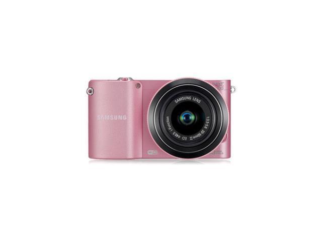 SAMSUNG NX1000 (EV-NX1000BJPUS) Pink Mirrorless Digital Camera with 20-50mm Lens