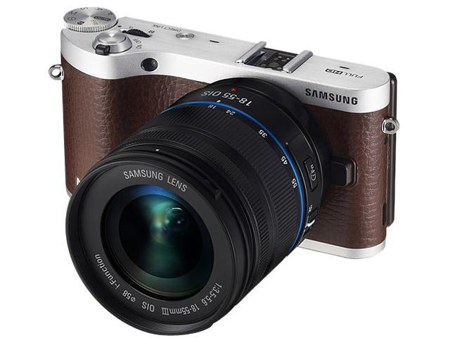SAMSUNG NX300 (EV-NX300ZBSVUS) Brown Mirrorless Digital Camera with 18-55mm f/3.5-5.6 OIS Lens