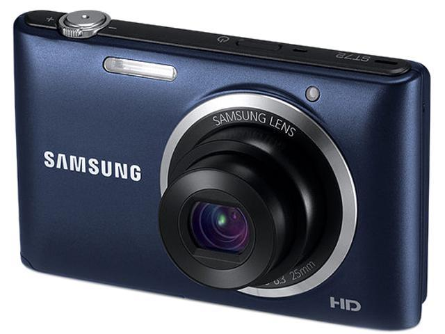 SAMSUNG ST72 Black 16.2 MP 5X Optical Zoom 25mm Wide Angle Digital Camera