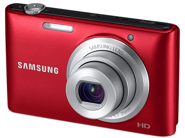 SAMSUNG ST72 Red 16.2 MP 5X Optical Zoom 25mm Wide Angle Digital Camera