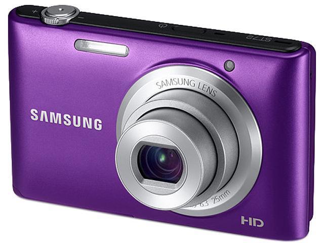 SAMSUNG ST72 Purple 16.2 MP 25mm Wide Angle Digital Camera