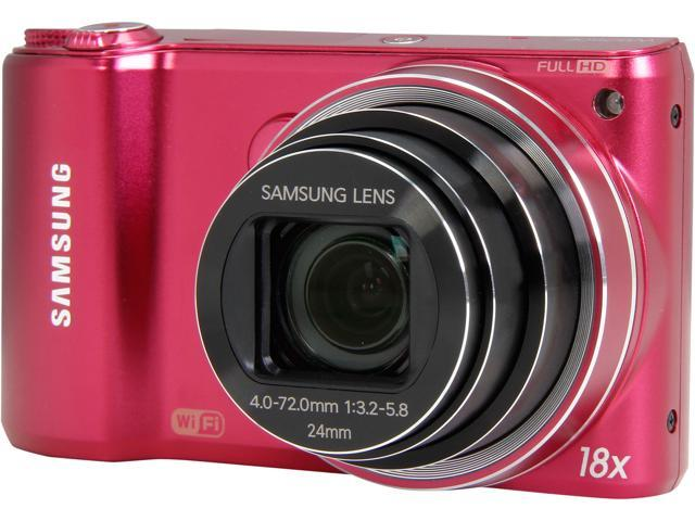 SAMSUNG WB250 Red 14.2 MP 24mm Wide Angle SMART Camera