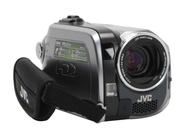 "JVC GZ-MG130 1/6"" CCD 2.7"" 112K LCD 34X Optical Zoom HDD/Flash Memory Camcorder"